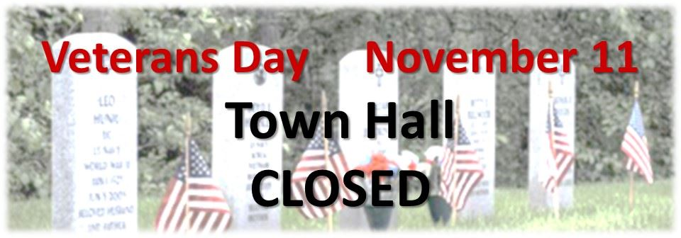 Town Hall Closed on Veterans Day