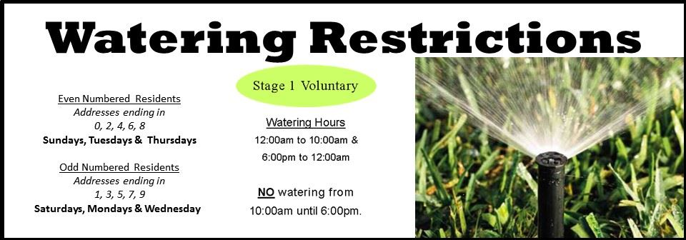2020 Watering Restrictions