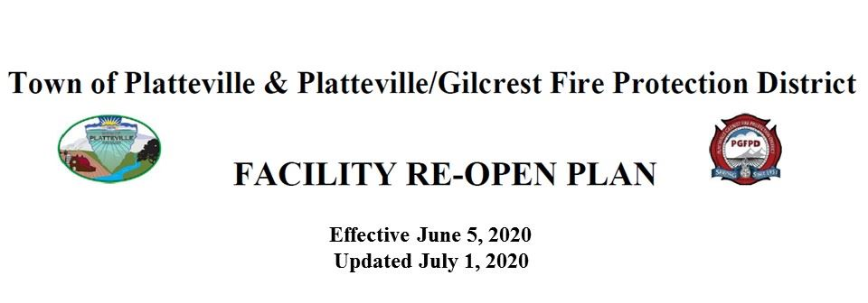 Town of Platteville Facilities ReOpen Plan 2020